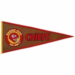 Kansas City Chiefs Pigskin Pennant (13 x 32)