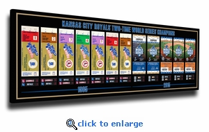 Kansas City Royals 2-Time World Series Champions Tickets to History Canvas Print