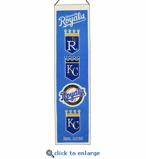 Kansas City Royals Heritage Wool Banner (8 x 32)