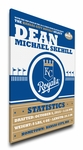 Kansas City Royals Personalized Canvas Birth Announcement - Baby Gift