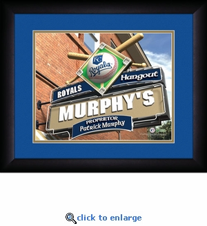 Kansas City Royals Personalized Sports Room / Pub Print