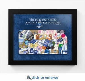 Kansas City Royals Personalized State of Mind Framed Print - Kansas