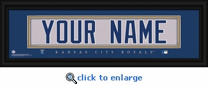 Kansas City Royals Personalized Stitched Jersey Nameplate Framed Print