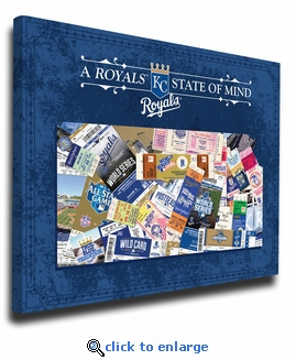 Kansas City Royals State of Mind Canvas Print - Kansas