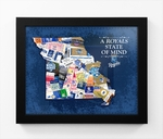 Kansas City Royals State of Mind Framed Print - Missouri