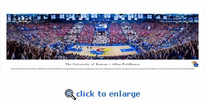 Kansas Jayhawks Basketball - Battle Of The Blue - Panoramic Photo (13.5 x 40)