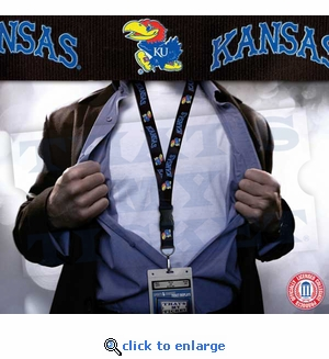 Kansas Jayhawks NCAA Lanyard Key Chain and Ticket Holder - Black