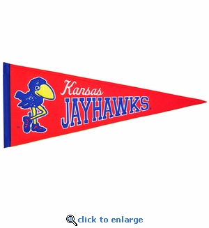 Kansas Jayhawks Traditions Wool Pennant (13 X 32)