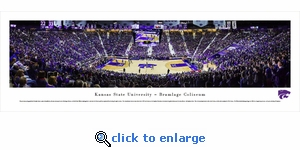 Kansas State Wildcats Basketball - Panoramic Photo (13.5 x 40)