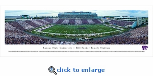 Kansas State Wildcats Football - 50 Yard Line - Stripe - Football - Panoramic Photo (13.5 x 40)