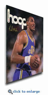 Karl Malone 1990 NBA Game Program Cover on Canvas - Utah Jazz