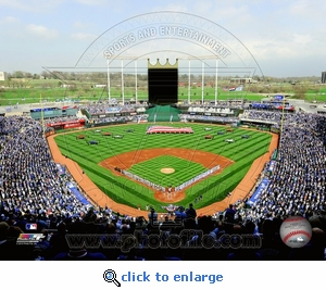 Kauffman Stadium Opening Day 2010 8x10 Photo - Kansas City Royals