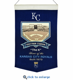 Kauffman Stadium Wool Banner (20 x 15) - Kansas City Royals