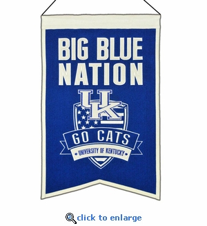 Kentucky Wildcats Nations Wool Banner (14 x 22)