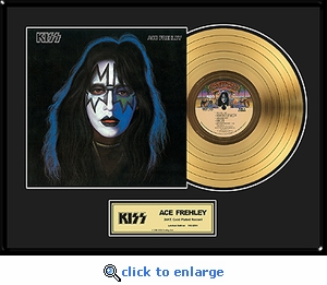 KISS - Ace Frehley Solo Framed Gold Record, LE 2,500
