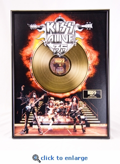 KISS - Alive 35 Framed Gold Record, LE 2,500