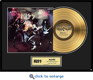 KISS - Alive! Framed Gold Record, LE 2,500