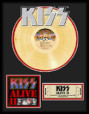 KISS - Alive II Framed Gold Record