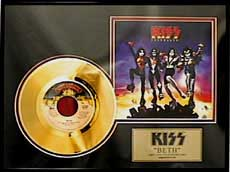 KISS - Beth Gold Record Plaque
