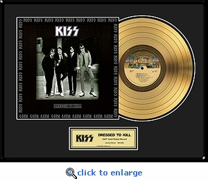 KISS - Dressed To Kill Framed Gold Record, LE 2,500