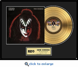 KISS - Gene Simmons Solo Framed Gold Record, LE 2,500
