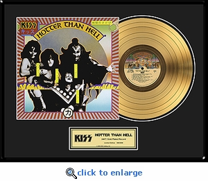 KISS - Hotter Than Hell Framed Gold Record, LE 2,500