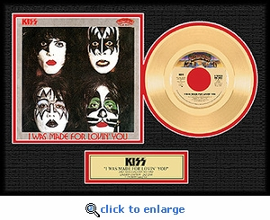 KISS - I Was Made For Loving You Framed Gold 45, LE 2,500