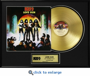KISS - Love Gun Framed Gold Record, LE 2,500