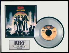 KISS - Love Gun Framed Platinum Record