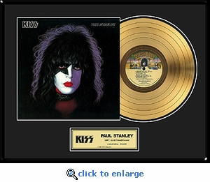 KISS - Paul Stanley Solo Framed Gold Record, LE 2,500