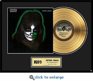 KISS - Peter Criss Solo Framed Gold Record, LE 2,500