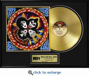 KISS - Rock And Roll Over Framed Gold Record, LE 2,500