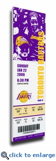 Kobe Bryant 81 Point Game Canvas Mega Ticket - Los Angeles Lakers