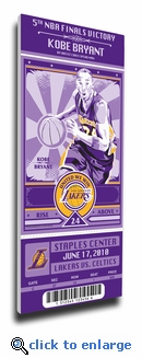 Kobe Bryant Artist Series Canvas Mega Ticket - Los Angeles Lakers (Speakman)