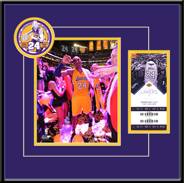 Kobe Bryant Final NBA Game 8x10 Photo Ticket Frame - Lakers
