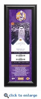 Kobe Bryant Final NBA Game Framed Ticket Print - Los Angeles Lakers