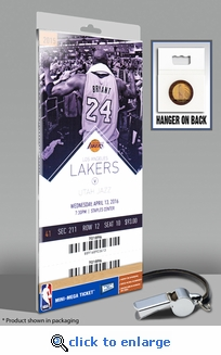 Kobe Bryant Final NBA Game Mini-Mega Ticket - Lakers