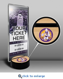 Kobe Bryant Final NBA Game Ticket Display Stand - Lakers