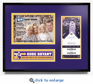 Kobe Bryant Final NBA Game Your 5x7 Photo Ticket Frame - Lakers