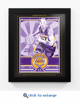 Kobe Bryant Sports Propaganda Framed 13x16 Digital Print - Lakers