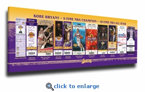 Kobe Bryant Tickets to History Canvas Print - Los Angeles Lakers