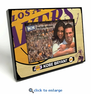 Kobe Bryant Black Wood Edge 4x6 inch Picture Frame - Lakers