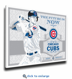 Kris Bryant Sports Propaganda Canvas Print - Chicago Cubs