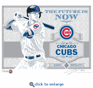 Kris Bryant Sports Propaganda Handmade LE Serigraph - Chicago Cubs