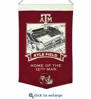 Kyle Field Stadium Wool Banner (20 x 15) - Texas A&M Aggies