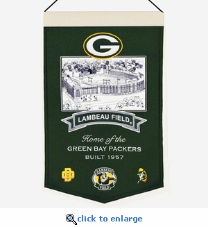 Lambeau Field Wool Banner (20 x 15) - Green Bay Packers