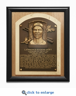 Larry Doby Baseball Hall of Fame Plaque Framed Print - Cleveland Indians