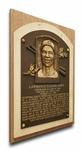 Larry Doby Baseball Hall of Fame Plaque on Canvas - Cleveland Indians