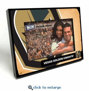 Vegas Golden Knights Vintage Style Black Wood Edge 4x6 inch Picture Frame