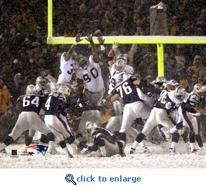 Last Game At Foxboro Stadium Adam Vinatieri Game Winning Field Goal 8x10 Photo